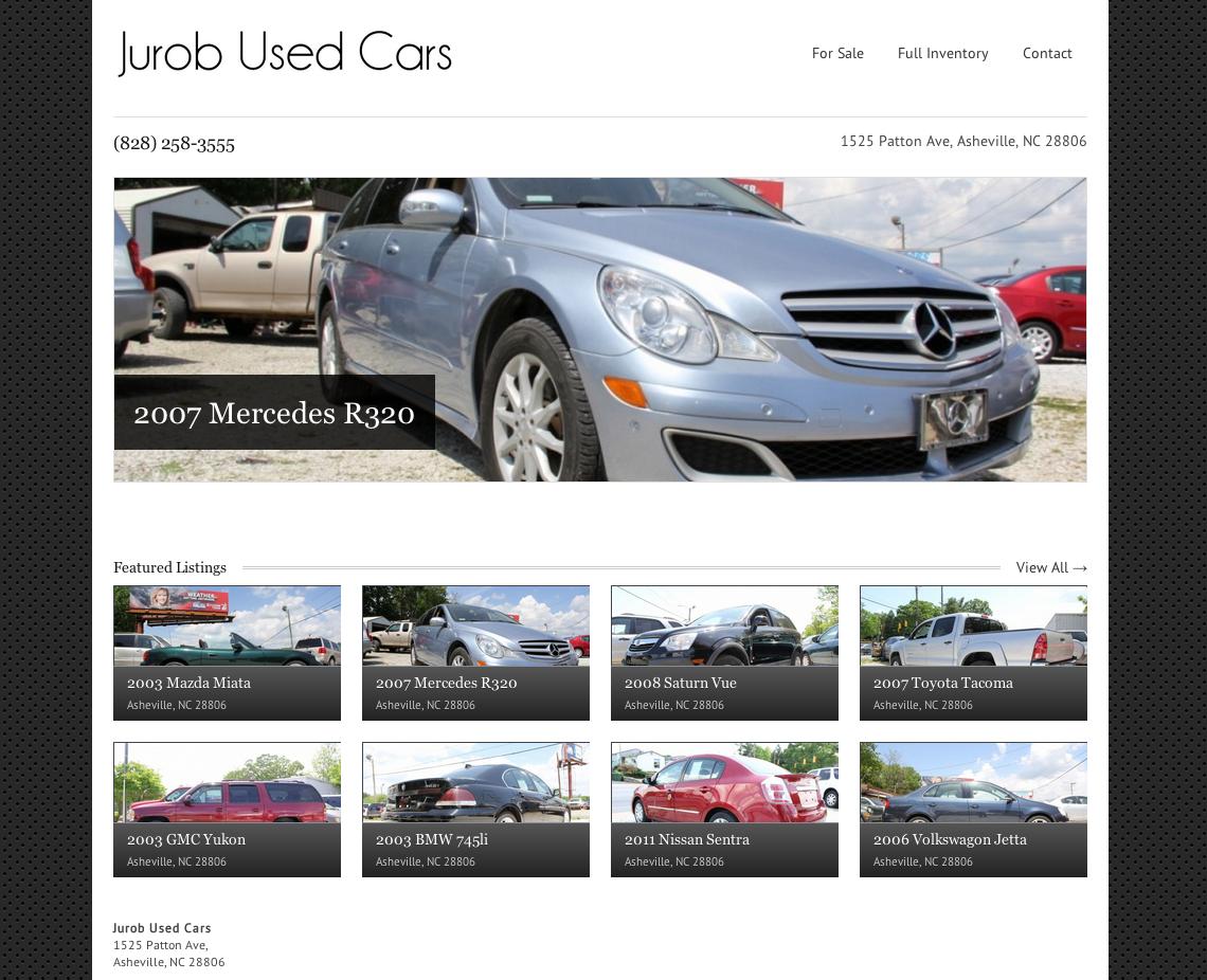 Websites web updates michael valentino for Motor car portfolio site inventory