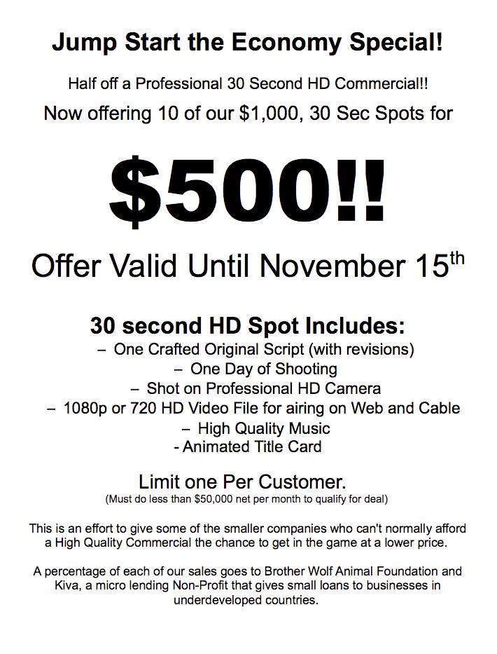 30 Sec Spot Special