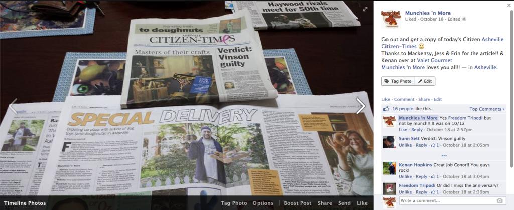 Munchies Citizen Times Article
